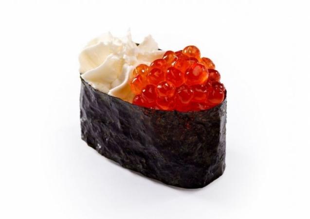 Крем-суши икра красная