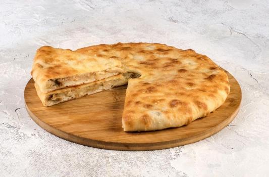 Пирог сыром и грибами