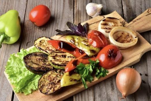 Овощи по-европейски на мангале